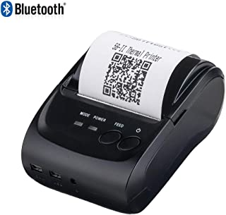 2 Inchs Wireless Bluetooth Receipt Thermal Printer, MUNBYN 58mm Portable Personal Bill Printer, Compatible with Android iOS Windows for Small Business ESC/POS/Star, Do not Support Square (Renewed)