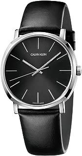 Calvin Klein Posh Black Steel Leather Swiss Men's Watch