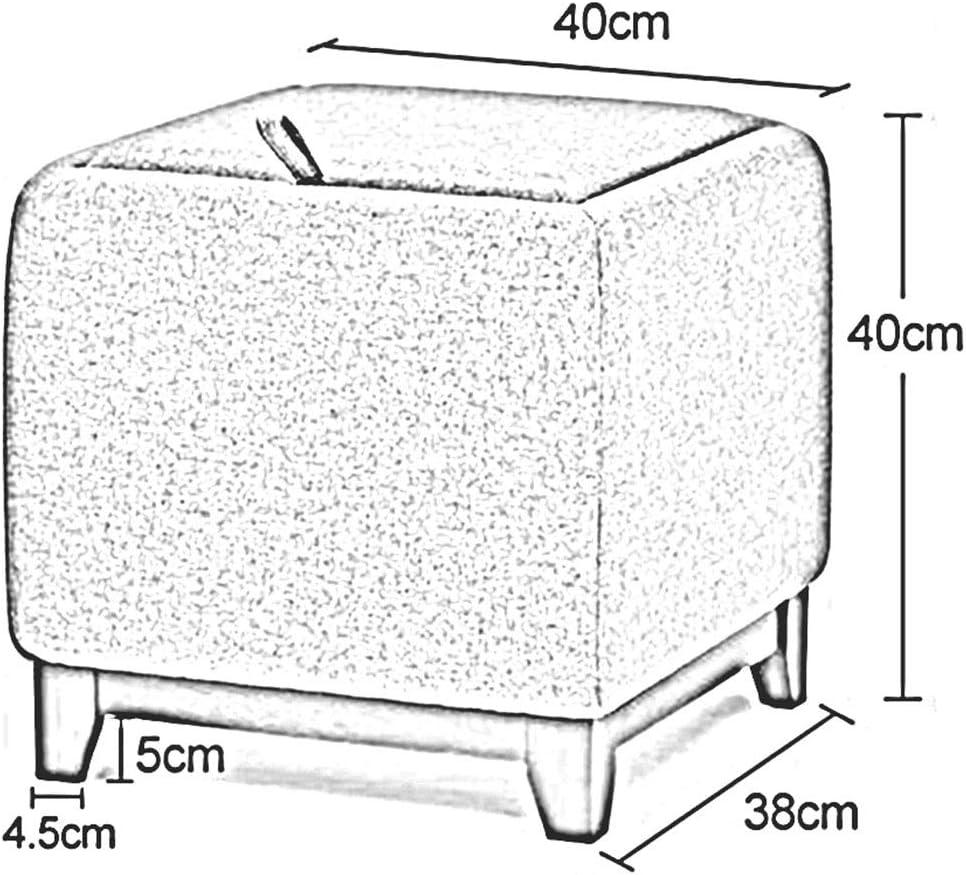 DALL Poufs Et Repose-Pieds Boîte De Rangement Tabouret De Canapé Décoration De Maison Banc De Chaussure Toile De Lin Cadre en Bois (Color : Gray 1) Purple