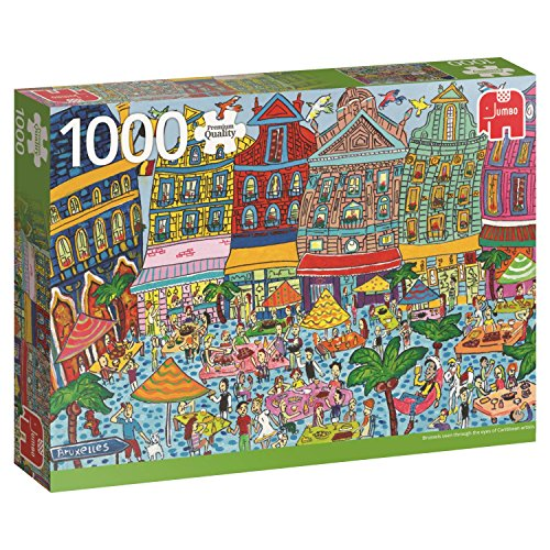 Jumbo 18562 puzzel grote markt in Brussel, 1000 delen