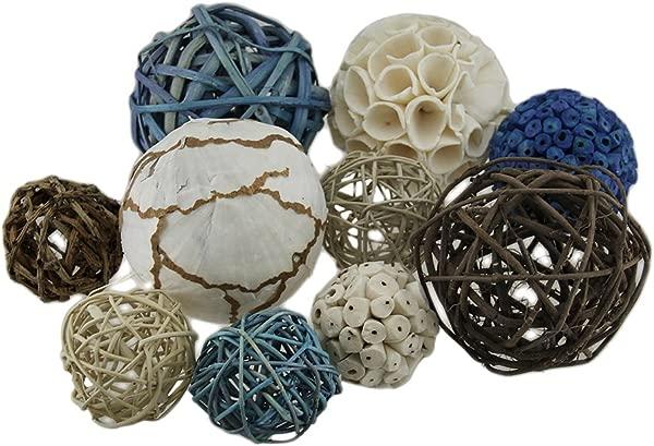 Zeckos 18 Pc Exotic Dried Organic Decorative Spheres