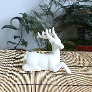 Toonol Abstract Art European American White Ceramic Deer Creative Small Decor Ornament,#2