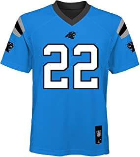 Outerstuff Christian McCaffrey Carolina Panthers NFL Youth 8-20 Aqua Blue Alternate Mid-Tier Jersey