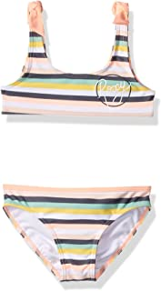 ROXY Girls' Lets Go Surfing Athletic Swimsuit Set