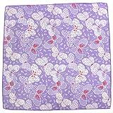 和のやさしさ ガーゼハンカチ 蝶 パープル 紫 二重合 約34×34cm