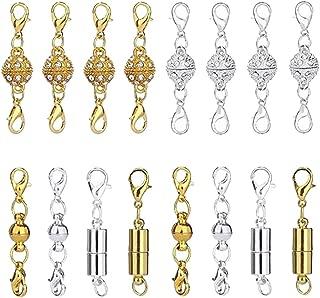 Gold Ton Endkappe für Lederband Halskette Schmuck Hummer Verschluss finden