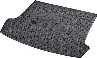 Passgenau Kofferraumwanne geeignet für VW T ROC ab 2017 ideal angepasst schwarz Kofferraummatte + Gurtschoner