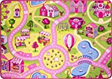 The Rug House Tapis de parc d'attractions pour garçon 80cm x 120cm (2'7' x 3'11' ) Rose