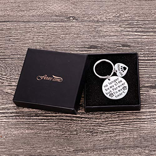 Pet Memorial Gifts Keychain for Pet Dogs Owner Dog Mom Dad Remembrance Memory Sympathy Gifts for Loss of Dog Pet Loss Gifts Keepsake for Dog Lover You are Always in My Heart Paw Print Keyring Photo #6