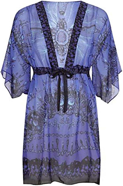 Gottex Swimwear Women's Classics bluee Sultan Beach Dress Kaftan Swimsuit CoverUp