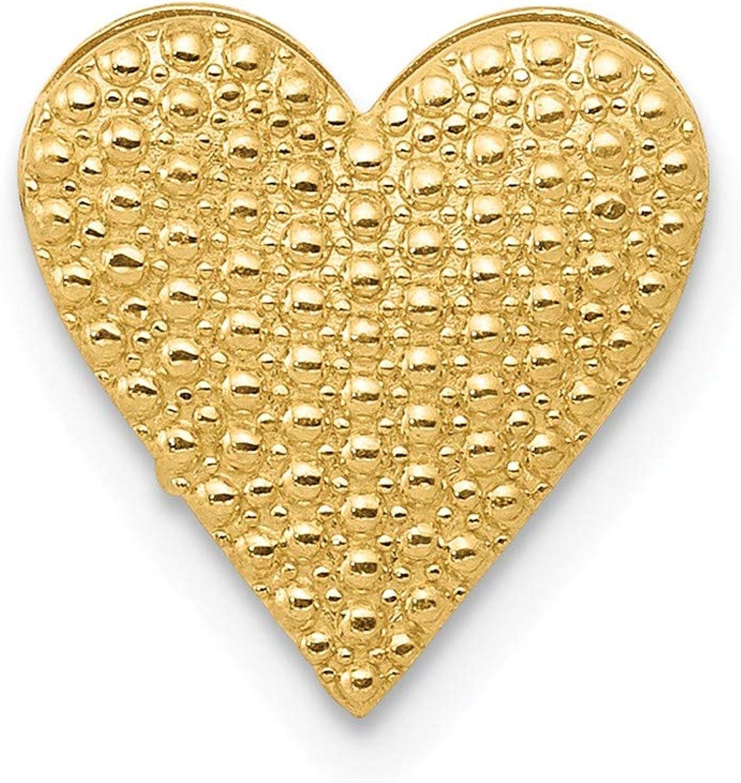 Beautiful Yellow gold 14K Yellowgold 14k gold Polished Reversible Cutout Heart Chain Slide