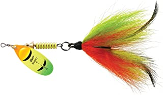 Mepps Musky Killer Dressed Lure, 3/4 oz, Hot Firetiger Blade/Firetiger Tail