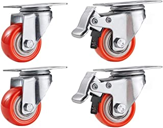 Caster FANYF X4 Swivel Castors-heavy Caster Wheels, Office Chair/Trolley/Furniture Replacement Castor Wheel, With Brake, Φ...