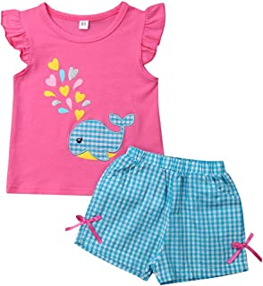 Imcute Baby Girls Cotton Pajama Set Dolphin Tank Vest Top Shorts Bottoms Outfit