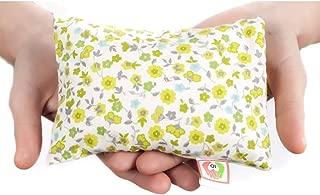 Saco térmico anticólicos para bebés (15x10 cm) Cojín de semillas para microondas hecho con tela de algodón 100%, con funda lavable y suave olor a lavanda ST10 (Flores)