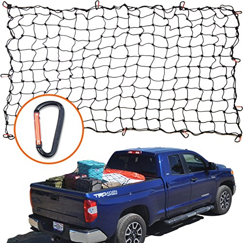4'x6' Super Duty Bungee Cargo Net for Truck Bed Stretches to...