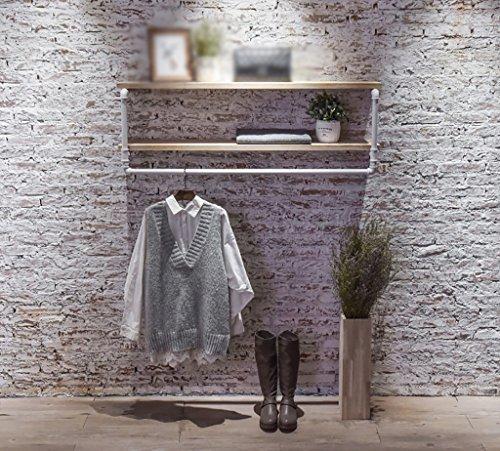 Rétro multifonctions mural fer tuyau en fer forgé cintre salon chambre mode mur cintre personnalité industrielle vent tuyau vêtements présentoir (taille : 60 * 25 * 45cm)