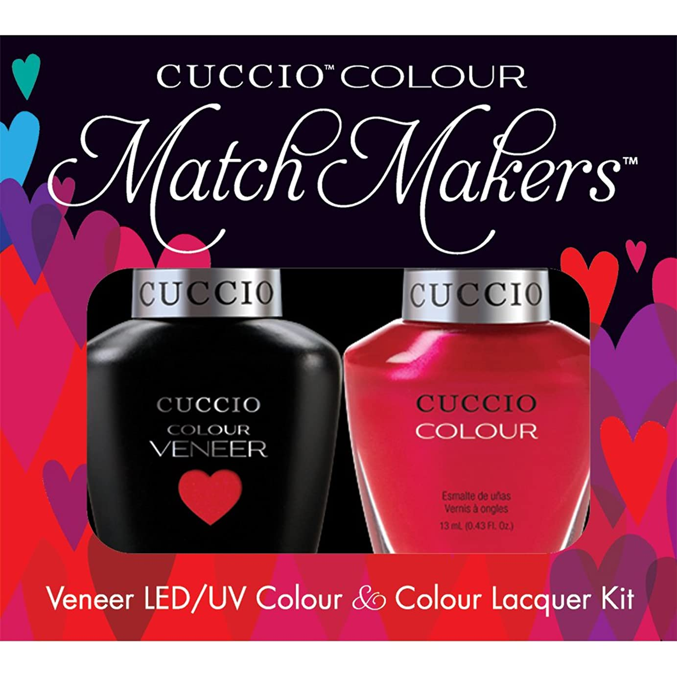勤勉な誤解グラフィックCuccio MatchMakers Veneer & Lacquer - Bali Bliss - 0.43oz/13ml Each