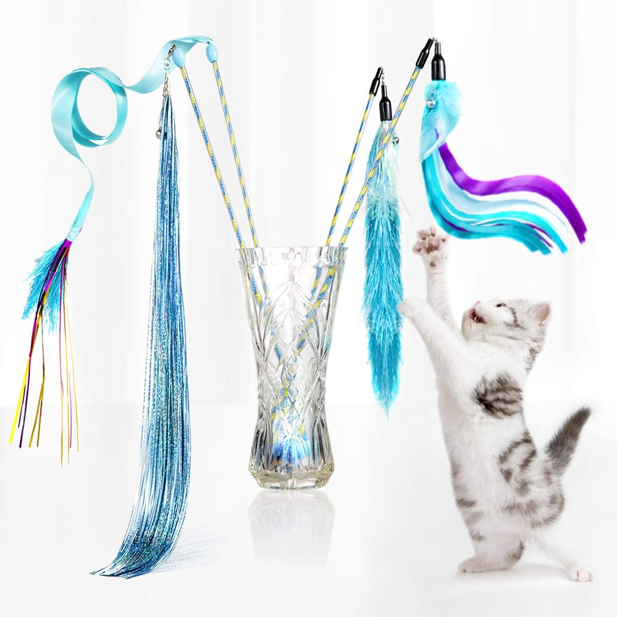 D.Home Cat Feather Toys Interactive Hunt Ranking TOP17 Toy Free shipping on posting reviews Wand Kitten