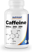 Nutricost Caffeine Pills, 200mg Per Serving (250 Caps)