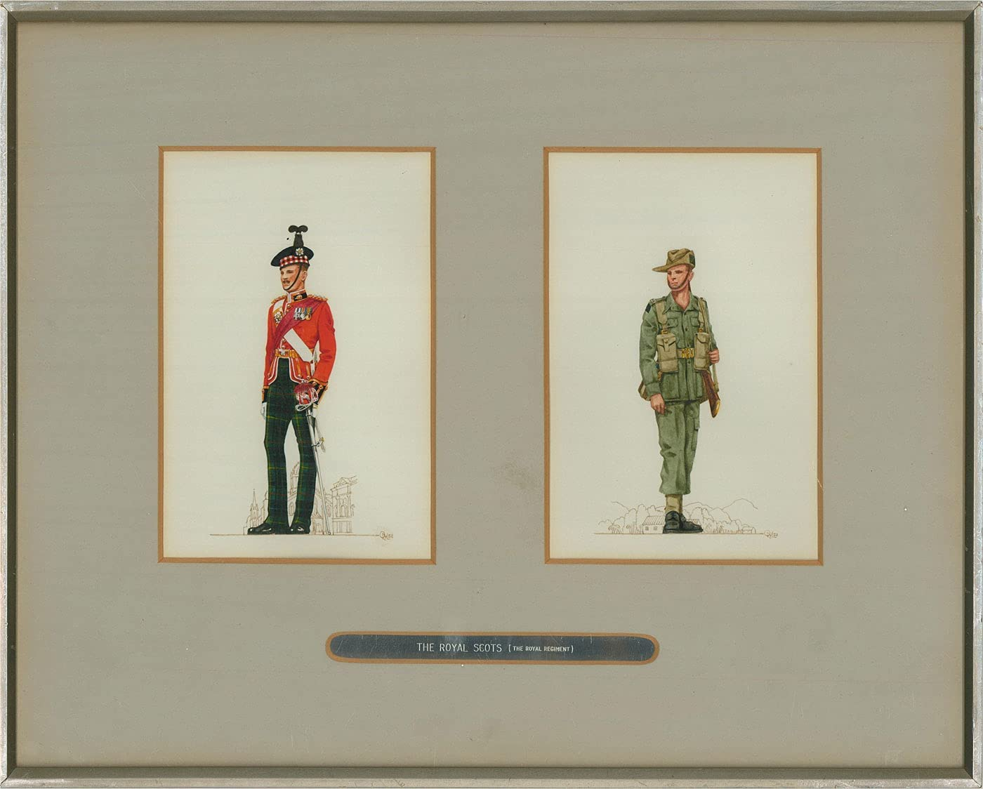 Lt.-Col. Olaf Macleod - 1952 Gouache Scots The Sale Royal Manufacturer direct delivery