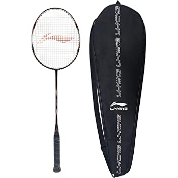 Li-Ning SS-G5 Series Carbon-Graphite Strung Badminton Racquet with Free Racket Cover