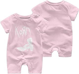Korn Verano Manga Corta niñas niños Mameluco Cuerpo Traje bebé Pijama Mono
