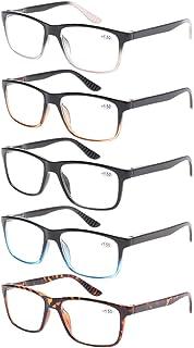 5 Pack Spring Hinge Reading Glasses Fashion Men Large...
