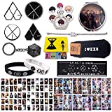 Fatyi EXO Fan Set with Greeting Card, EXO-L with Badge,Silicone Wristband, EXO Gift Set with Banner, Sticker Set, Phone Stand, Bracelet, Socks, Keychain, Mirror & Sticky Note
