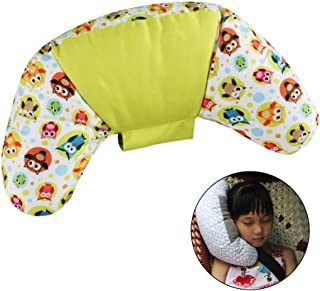 Car Seatbelt Pillow, Shoulder Protector Pillows Safety Strap Adjustable Neck Sleep Pillow Seat Belt Cushion for Travel Children and Adults No More Flopping Sleep