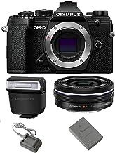 Olympus OM-D E-M5 Mark III Mirrorless Digital Camera Body (Black) + M.Zuiko Digital ED 14-42mm f/3.5-5.6 EZ Lens (Black)