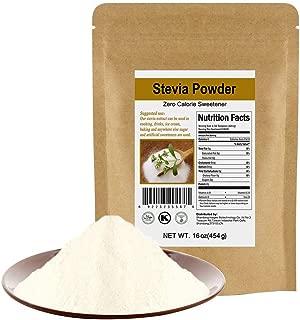 CCnature Organic Stevia Powder Extract Natural Sweetener Zero Calorie Sugar Substitute 16oz