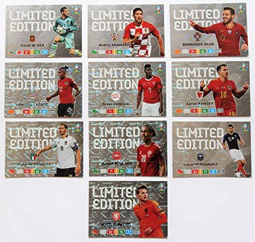 XL Panini Adrenalyn Euro 2020 - Set 10 x Karte Limited Edition