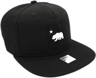 a33ead63933b2 LAFSQ California Republic Bear Logo Rubber Patch Flat Bill Snapback Cap