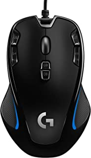 Logitech G300s Ratón Gaming con Cable, Ambidiestro, RGB, Peso Reducido, 9 Botones Programables, Memoria Integrada, PC/Mac ,Negro