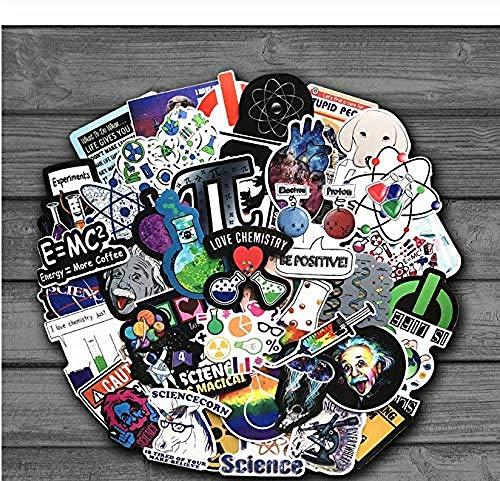 YRBB Graffiti Stickers 50 Stks Chemische Experimenten vergelijking hersenen wetenschap Laboratorium Stickers Voor Laptop Skateboard Bagage Auto Styling Doodle Decals