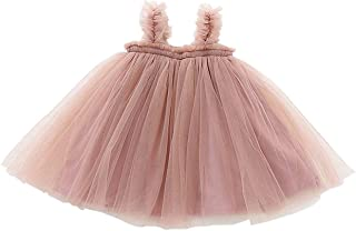 GSVIBK Baby Girls Tutu Dress Toddler Infant Tulle Skirts Sleeveless/Long Sleeve Cute Tutu Dress Mini Dress