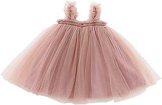 GSVIBK Baby Girls Tutu Dresses Toddler Infant Tulle Dress Long Sleeve Tutu Dress Princess Party Dresses