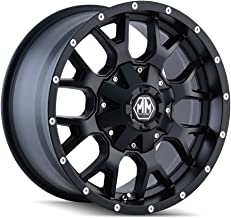 Mayhem Warrior (8015) Matte Black: 18x9 Wheel Size; 6-135/6-139.7 Lug Pattern, 106mm Bore, 18mm Offset.
