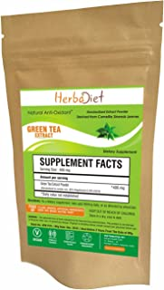 Pure Green Tea Extract Powder | 90% Polyphenol 50% EGCG | Anti-Aging, Antioxidant, Weight Loss, Energy & Metabolism Booste...