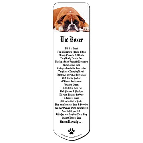 Red and White Boxer Dog Bookmark Book Mark Christmas Stocking Filler// AD-B26BM
