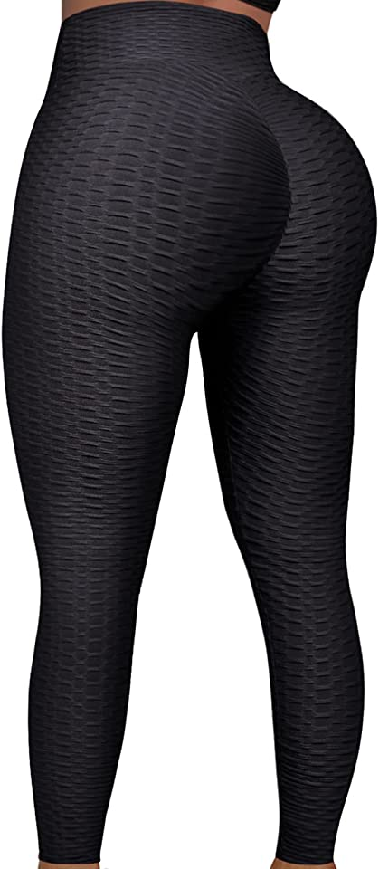 Tik Tok Leggings für Frauen, Anti Cellulite hoch taillierte Bauchkontrolle Yoga Hose für Workout Running