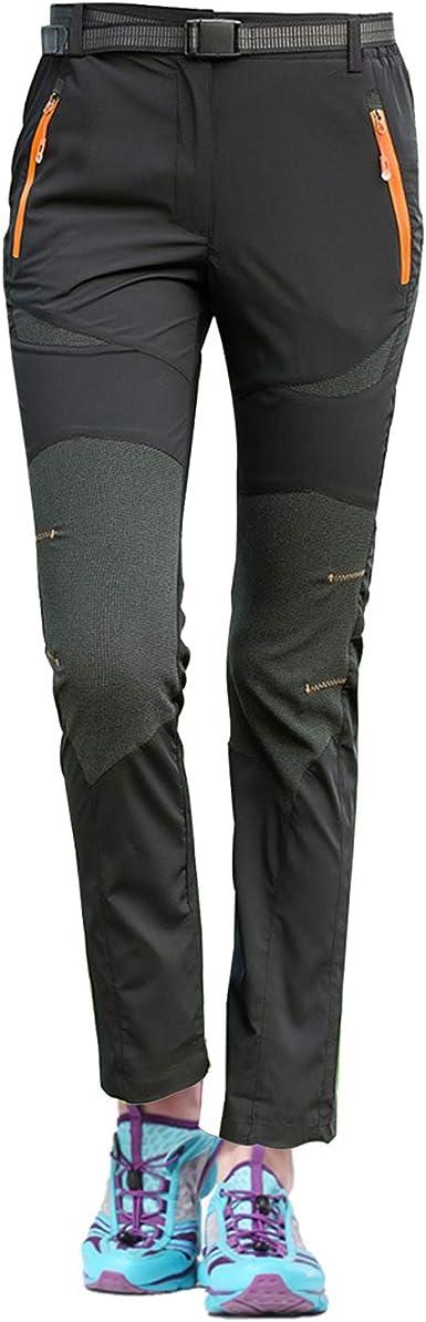 7VSTOHS Mujeres Secado rápido Pantalones de Senderismo Respirable Ultra Ligero Ropa Deportiva al Aire Libre Impermeable Verano Trekking Camping de ...