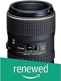 Tokina AT-X 100mm f/2.8 PRO D Macro Lens for Nikon Auto Focus Digital and Film Cameras - Fixed (Renewed)