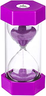 Sand Timer 1 Minute Hourglass Timer, Colorful Sand Watch 1 Minute, Small Blue Sand Clock one Minute, Plastic Hour Glass Sa...