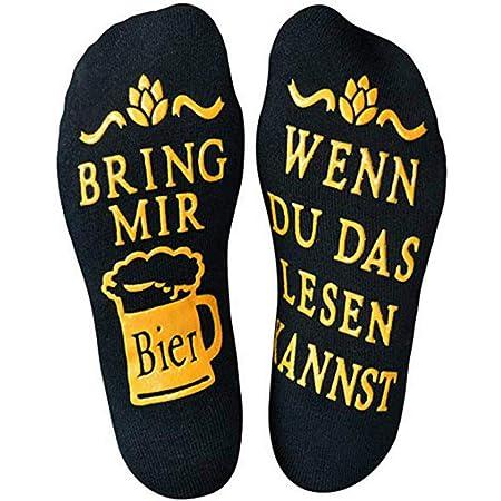1 Paar BRING MIR EIN BIER Lässiger Brief in Baumwollsocken Winter Socken eNwrg