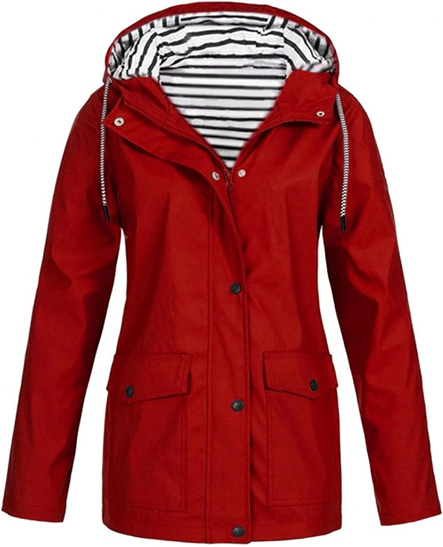 Manufacturer OFFicial shop Time sale Women's Fashion Lightweight Rain Jackets Hooded Windbrea Outdoor