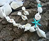 Strandhochzeit Seashell Halskette, Weiß und Minze Hochzeit Halskette