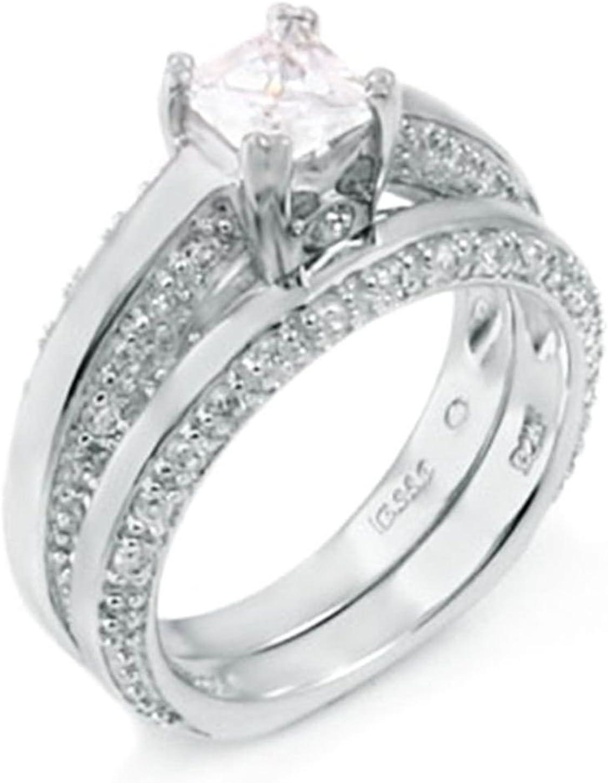 925 Silver Princess El Paso Mall and .45 ct designer Set ring Award-winning store Round Wedding