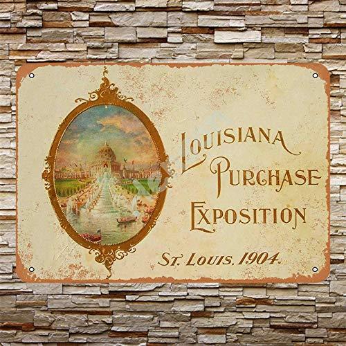 GenericBrands St. Louis World'S Fair 2 Cartel de Hierro Oxidado Decorado con...